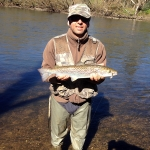56cm Atlantic Salmon caught on the Pacey's Perch Bullet Minnow